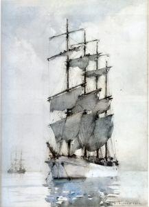 Four Masted Barque Henry Scott Tuke - 1914