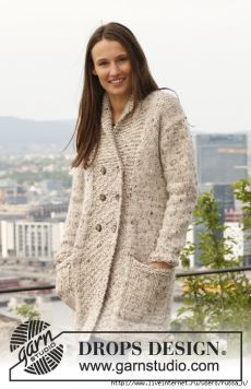 """Жакет """"Tweed on the Town"""" by DROPS Design."""