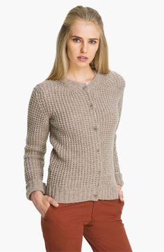 A.P.C. Waffle Weave Cardigan  #FrenchChic #Parisianstyle #frenchbrands #whattowearinParis