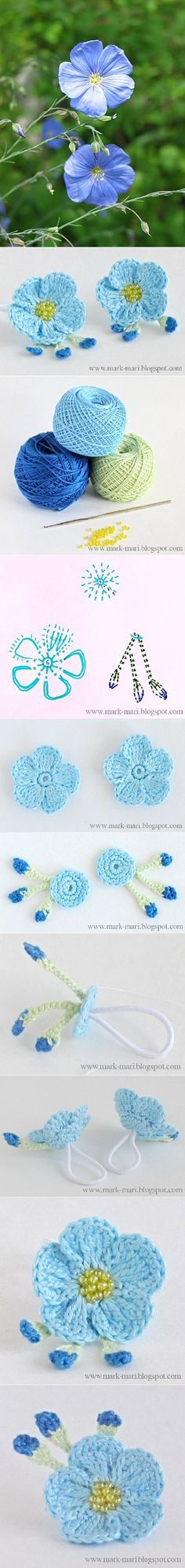 Crochet Flax-Blossoms