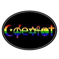 Coexist 3 x 5 Inch Die Cut Magnet Fade Resistant Sticks to all metal surfaces