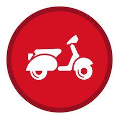 Bun Mee Market Street on Behance Scooters Vespa, Piaggio Scooter, Vespa Ape, Motorcycle Stickers, Motorcycle Posters, Motorcycle Art, Vespa Illustration, Lululemon Logo, Logo Design