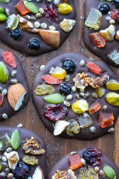 home made chocolate with dried fruits