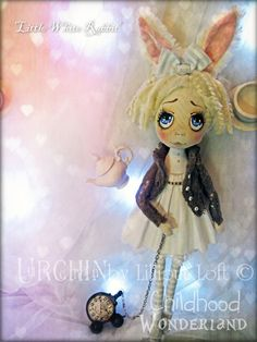 OOAK Art Doll Urchin Little White Rabbit by lilliputloft on Etsy