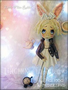 OOAK Art Doll Urchin Little White Rabbit by lilliputloft on Etsy
