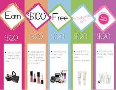 Earn $100 FREE to party with me! Ask me how today - send me a direct message or visit Facebook.com/MonicaSteinbrecherMaryKay  #MaryKay