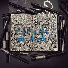 Doodles Illustrations – Student in Art, Filipino Lei Melendres offers beautiful designs that he makes in these books. #Doodle