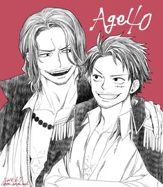 Luffy and Ace at the age of 40