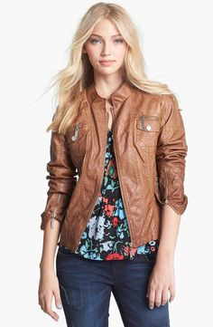 Faux Leather Bomber Jacket = Fall Essential