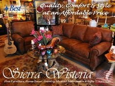 Beautiful Faux Suede Sofa & Recliner for only $1,969.00  www.SierraWisteria.com