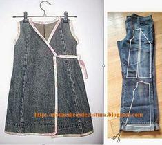 Moda e Dicas de Costura: RECICLAGEM DE CALÇA JEANS - 8
