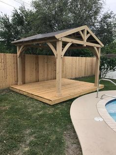 47 Impressive Gazebo Design Ideas For Your Backyard - Gazebos are freestanding structures found in most homes that are used as garden ornaments or for temporary shelter. They are characteristically roofed. Backyard Pavilion, Backyard Gazebo, Backyard Patio Designs, Backyard Projects, Pergola Patio, Outdoor Projects, Backyard Landscaping, Pergola Kits, Landscaping Ideas