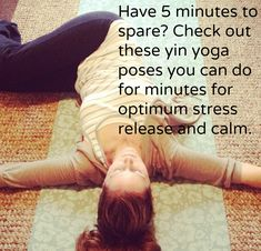 Have a few minutes to spare? Try one of these yoga poses for optimum stress release and calm. Fitness Diet, Yoga Fitness, Fitness Motivation, Holistic Health Coach, Holistic Healing, Yin Yoga Poses, Stress Relief Tips, Release Stress, Stress Less