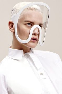 Futuristic glasses by London College of Fashion Womenswear Design graduate Isabell Yalda Hellysaz, fall/winter 2012/2013 #spectacles #googles #white - Carefully selected by GORGONIA www.gorgonia.it