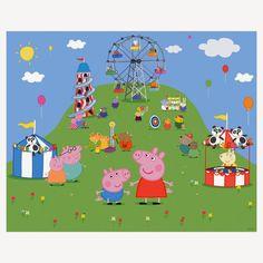 PEPPA PIG Placa de Mesa Painel Backdrop para by BolleBluParty
