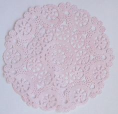 TEN dip dyed LIGHT PINK Paper Doilies 8 by HomeDesignsByGloria, $8.00