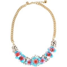 Shourouk Rosa Necklace ($329) ❤ liked on Polyvore