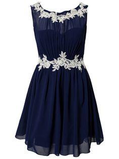 LACE DETAL CHIFFON DRESS