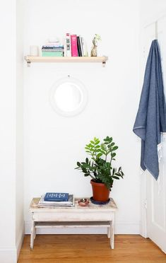 multifunctional bench in the entryway