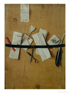 """Tromp l'oeil Still Life,"" by Jean-Francois De La Motte"