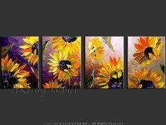 """""""In The Heart Of The Country: Sunset"""" - Original Flower Paintings by Lena Karpinsky, http://www.artbylena.com/original-painting/20534/in-the-heart-of-the-country-sunset.html"""