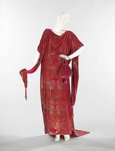 Silk, Metal an Glass Evening Dress By Maria Gallenga - Italian   c.1920 The Metropolitan Museum of Art