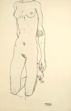 Egon Schiele Torso 1913