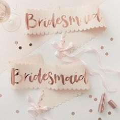 Bridesmaid Sash x 2