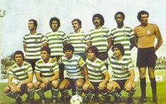 Sporting 1978-79. Bastos, Meneses, Laranjeira, Zezinho, Jordão e Botelho. Inácio, Vítor Manuel, Manuel Fernandes, Mota e Zandonaide.