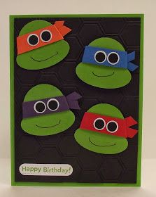 stamping sanity: Ninja Turtle Birthday Party