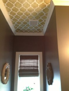 Casablanca stenciled ceiling