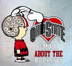 Good old Charlie Brown! This has my son's name written all over it! Ohio State Baby, My Ohio, State College, Ohio State University, Ohio Usa, Ohio State Football Jerseys, Ohio Stadium, The Buckeye State, Ohio State Buckeyes