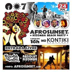 AFROSUNSET  Kizomba Beach Party  PROXIMO DOMINGO no KONTIKI - 16h. NO SHIRT - NO SHOES - JUST DANCE!  info em Facebook: Kizomba Power  ENTRADA LIVRE   #kontiki #kizomba #kizombapower #semba #zouk #tarraxinha #costa #afrosunset @deejay_emanuelson @djvictorblack #djtavas #DjEmerson