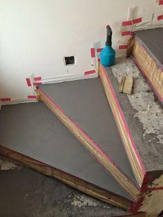 BETON CIRE Oberflächen In BETON LOOK: Betontreppe Beschichten+ Beschichtung  In Betonoptik Mit Besser Bauen Beton