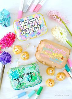 Diy Ostern, Easter Treats, Diy Food, Gift Baskets, Happy Easter, Birthday Cake, Crafts, Egg Cartons, Pilot
