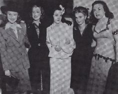 Jeanette MacDonald with Susanna Foster, Kathryn Grayson, Judy Garland and Deanna Durbin