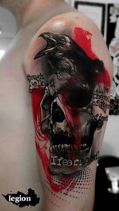 tatouage à la main crâne pour hommes - Idées Manly dessins de tatouage à la main crâne pour hommes - Idées Manly Ink, Wish Skull Tattoos, Body Art Tattoos, Sleeve Tattoos, Badass Tattoos, Cool Tattoos, Vodoo Tattoo, Trendy Tattoos, Tattoos For Guys, Tattoo Caveira