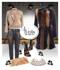 """""""Fur Patchwork On The Runway"""" by bodykandycouture ❤ liked on Polyvore featuring Burberry, BLANCHA and MM6 Maison Margiela"""