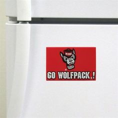"""NC State Wolfpack Red """"Go Wolfpack"""" Magnet"""