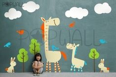 Kids Wall Decal Wall Sticker  Horse wall decal with by NouWall