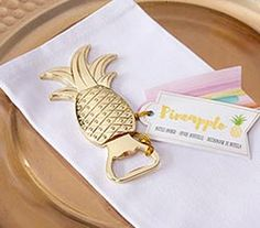 Easy To Grow Houseplants Clean the Air Adorned With A Shiny Gold Pineapple On Top, This Bottle Opener Favor Is Sure To Bring A Touch Of The Tropics To Your Hawaiian Themed Wedding Or Luau Bridal Shower. Gold Pineapple Bottle Opener My Wedding Favors Wedding Favors Unlimited, Beach Wedding Favors, Unique Wedding Favors, Unique Weddings, Tropical Weddings, Wedding Souvenir, Romantic Weddings, Wedding Ideas, Hawaii Wedding