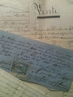 French antique letters