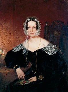 """Portrait of a Lady"", ca. 1835; Mercer Art Gallery HARAG 342"