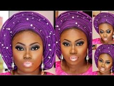 STEP BY STEP HOW TO TIE NIGERIAN YORUBA GELE TUTORIAL FOR BELLA NAIJA WEDDINGS |THE BEAUTICIANCHIC - YouTube