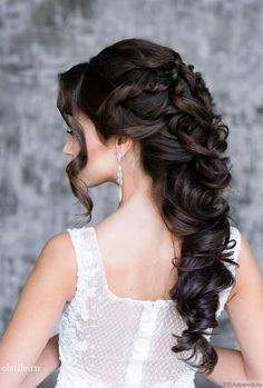 21 Classy and Elegant Wedding Hairstyles - MODwedding(Elegant Wedding Hair) Elegant Wedding Hair, Wedding Hair Down, Wedding Hair And Makeup, Bridal Hair, Perfect Wedding, Elegant Bride, Trendy Wedding, Wedding Bride, Wedding Dresses