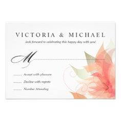 Shop RSVP Orchid Purple Floral created by deluxebridal. Whimsical Wedding Invitations, Discount Wedding Invitations, Custom Wedding Invitations, Invitation Paper, Floral Invitation, Invites, Wedding Postcard, Wedding Sets, Floral Wedding