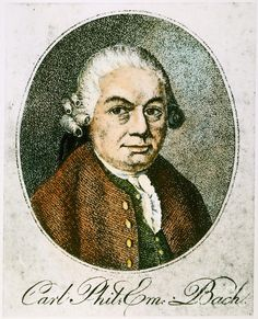 Carl Philipp Emanuel Bach (1714-1788), engraving (1801), by Johann Friedrich Schröter (1770-1836), after a pastel (1773), by Johann Philipp Bach (1752-1846).
