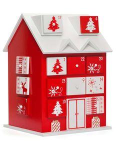 David Jones - Christmas Shop wooden advent calendar house