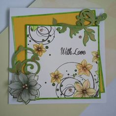 Honey Doo Crafts Flower Fountain, Foliage Flourish and Little Lilies and Leaves stamp sets. Honey Doo Crafts, Card Making Techniques, Stamp Sets, Crafts To Do, Flower Crafts, Lilies, Flourish, Handmade Cards, Making Ideas