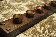Candle Holder Centerpiece Tuscan Style by VetrinaDelVino on Etsy, $40.00
